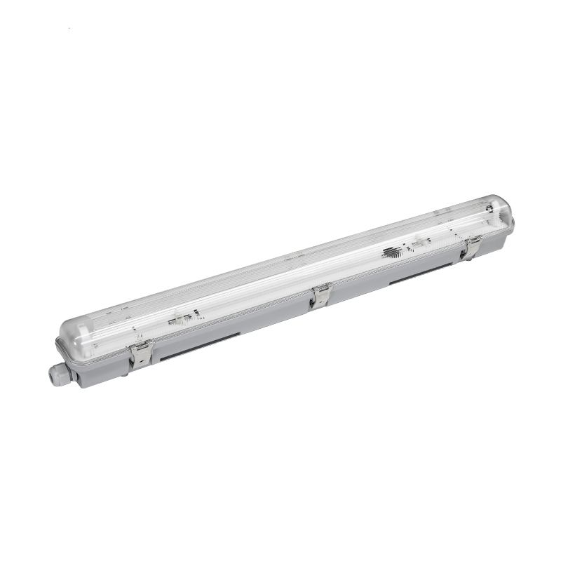 IP65 IK08 1x136W 2x26W led surface mounted single T8 tube batten triproof light ,double t8 fluorescent lamp