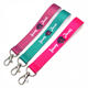 Cheap Customized Sublimation Printed Polyester Short Wrist Lanyard