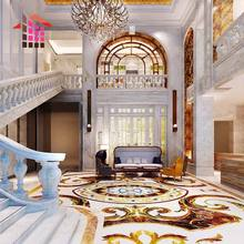 Villa house waterjet marble floor and stairs