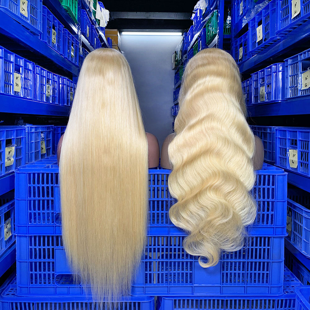 Wholesale Brazilian 613 Virgin Human Hair Full Lace Wigs For Black Women, 100% Cheap Natural Blonde Human Hair Wigs Lace Front