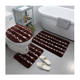 MACHINE MADE Rugs Bathroom Set Rug Mat 3 Pcs/set Carpet Floor Washable Rugs Bath Mat Non Slip Bathroom Mat Set Toilet Mat