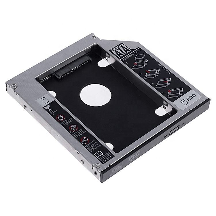 Blueendless Bs-C04 9.5/12.7Mm To Sata Aluminum Support 25 Hdd Ssd 6Gbps Hpe Gen8 Caddy hdd Caddy