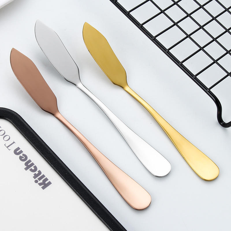 Wholesale Flatware Tableware Stainless Steel Butter Knife Dessert Cake Toast