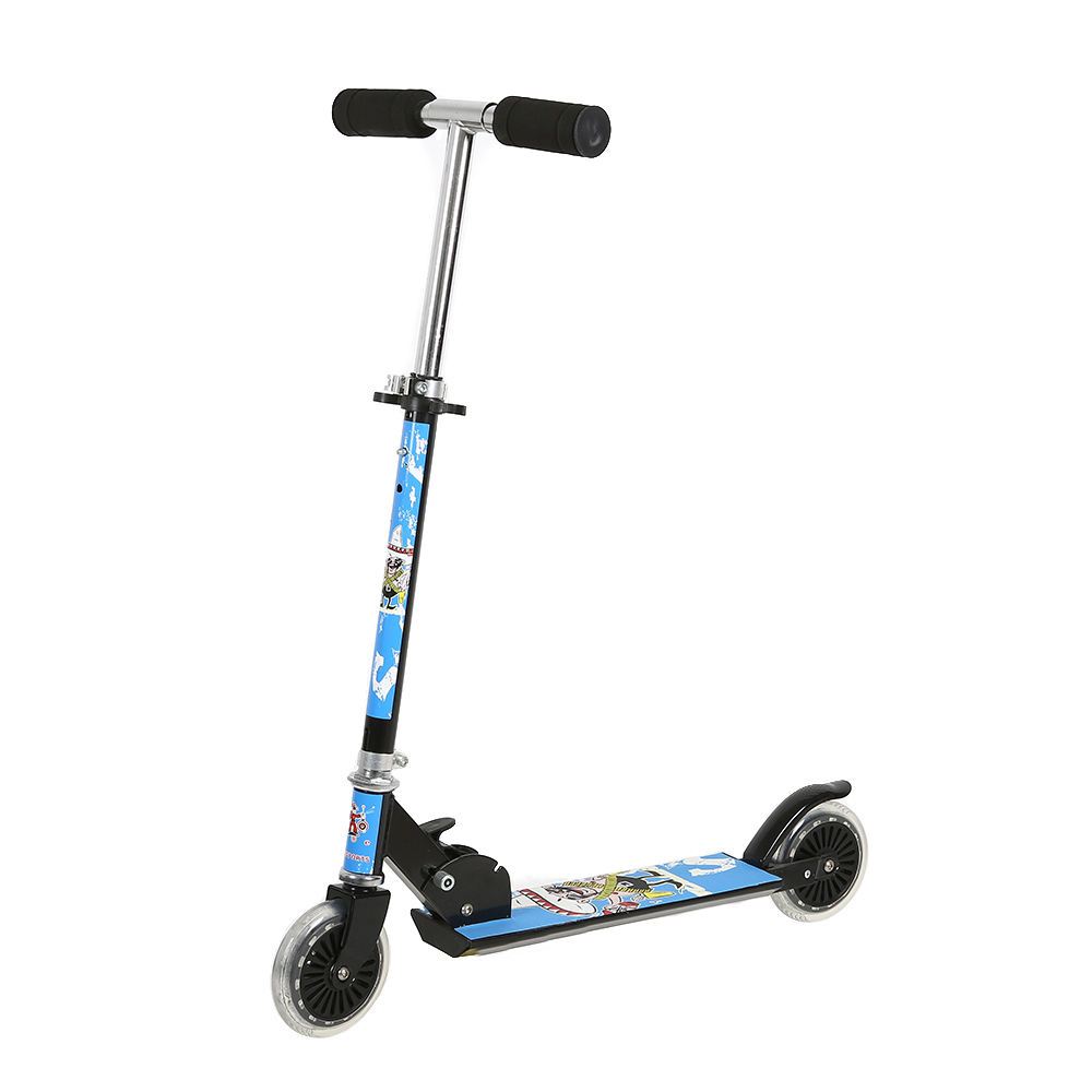 OEM manufacturer 125mm PVC two wheel kids folding scooter