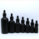 5ml 10ml 15ml 20ml 30ml black amber frosted essential oil glass bottle for cosmetics CBD oil