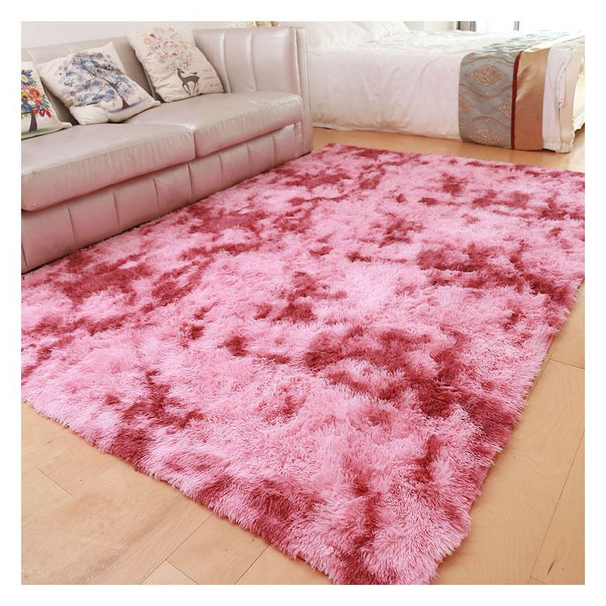 home decoration soft luxury design long pile polyester plush shaggy carpet for living room