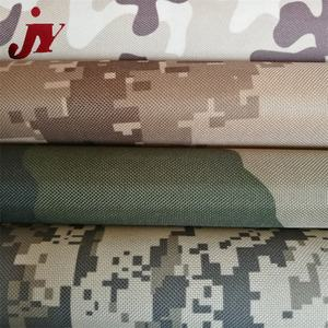 Factories Fabrics Waterproof Lining 600D Pu Coated Waterproof Breathable Oxford Cheap Camouflage Fabric