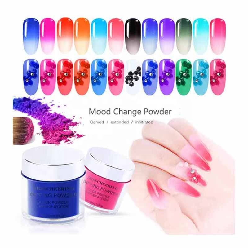 Best Selling Magic Effect Acrylic Dipping Nail Powder 12 Colors For Nail Art Dipping Powder Super Pigment Acrylic