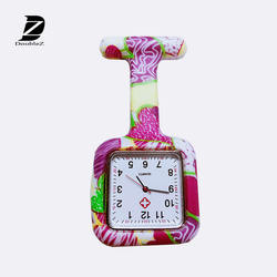 Promotion gift Square silicone Nurse watches