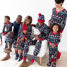High Quality Family Matching Clothing House Wear Cotton Fabric Christmas Pajamas