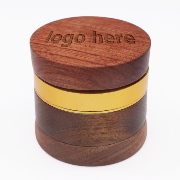 High Quality Smoking Accessories Wholesale Tobacco Stone wood Herb Grinder For Weed