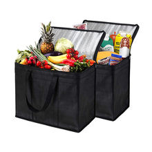 Extra Large Heavy Duty Insulated Reusable Tote Grocery thermal Shopping Bag Cooler Bag