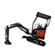 1.8T Hydraulic Crawler New Excavator Mini Bagger with bucket For Sale