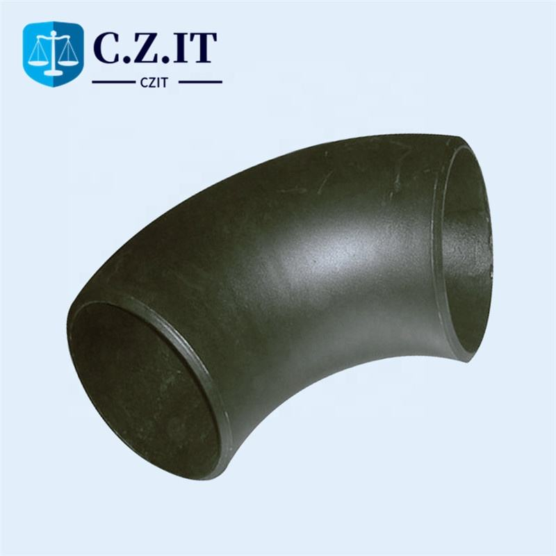 Seamless pipe fittings astm a420 wpl6 DN80 schedule40 90 pipe elbow