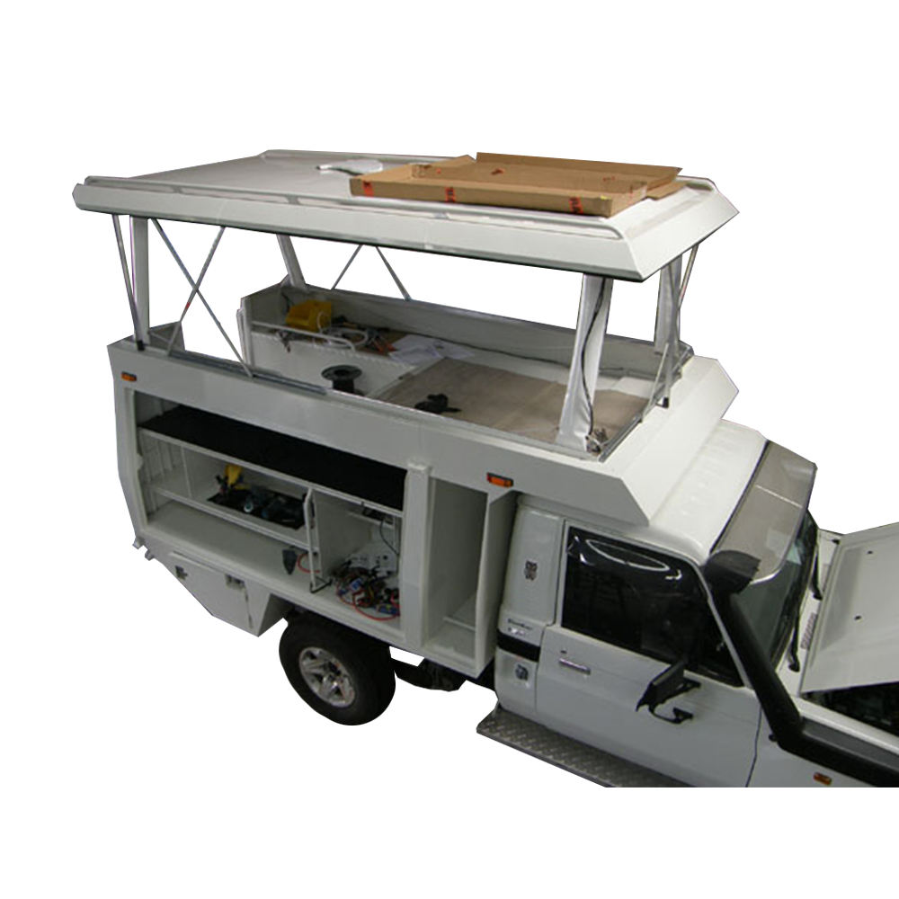 Aluminium ute canopy with dog box black powder coating for sale