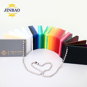 JINBAO laser cutting 3mm plastic day and night dichroic food grade milk white and color acrylic