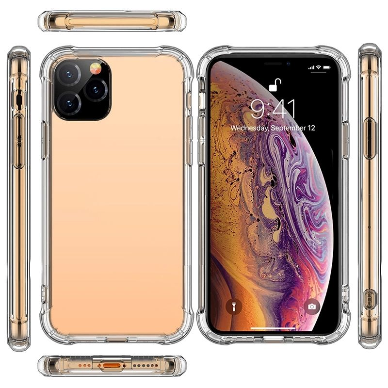 For Iphone 11 Pro Max Cover Cell Mobile Custom Clear Tpu Accessories Oem Transparent Phone Case