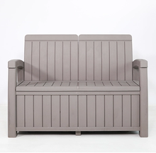 2-Person Outdoor Bench Loveseat Chair for Patio and Garden Yard