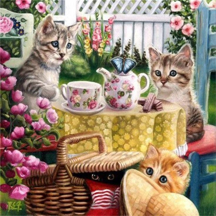 Best Price DIY Cat Embroidery Art 5D Crystal Diamond Painting Kit