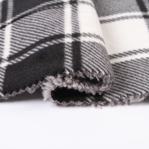 100 polyester sherpa fabric bonded stretch fabric