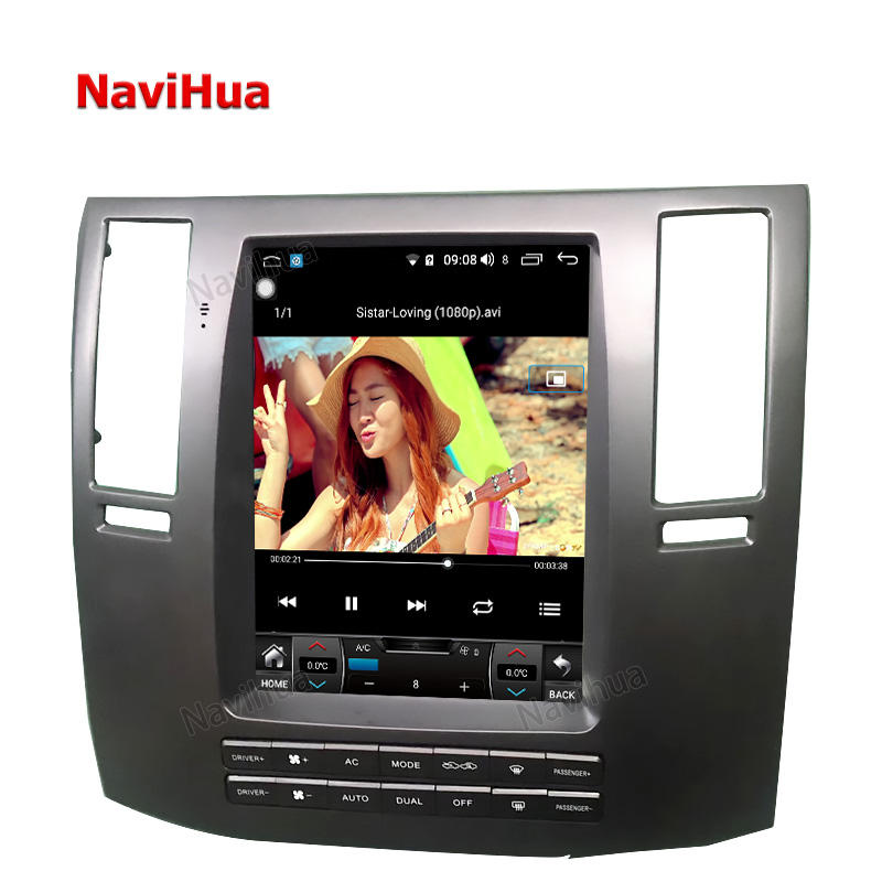 "10.4"" tesla android vertical screen car radio dvd navigation car multimedia player for infiniti FX35 old audio system wifi"