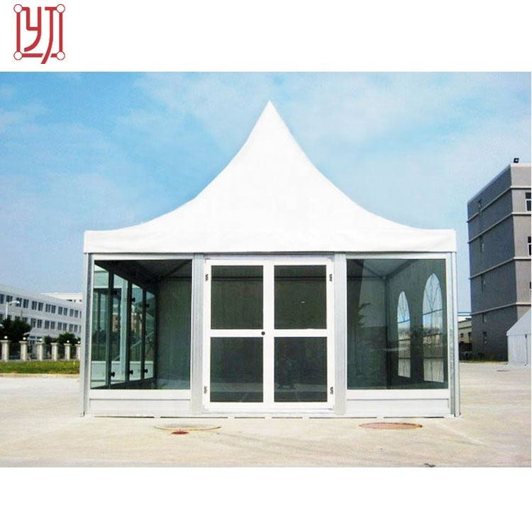 Newest Design Marquee Aluminum Frame Pagoda Tent With Glass Wall