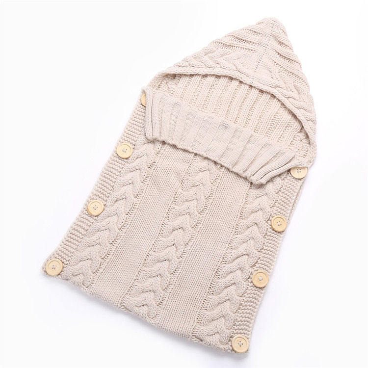 Newborn Baby Wrap Swaddle Blanket Knit Sleeping Bag Sleep Sack Stroller Wrap for Baby