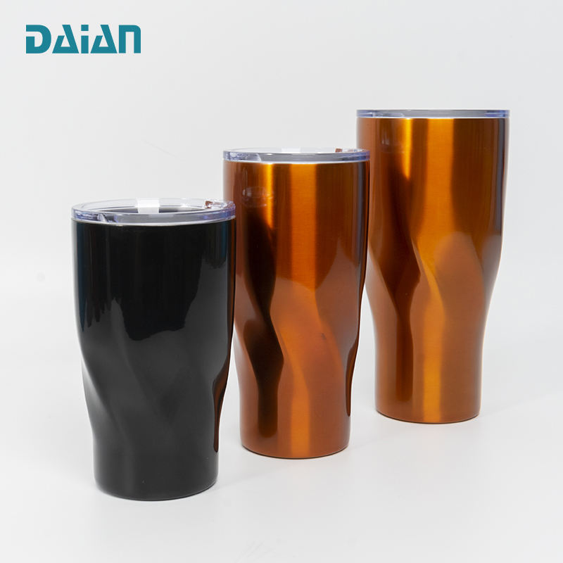 Customized logo and color thermos tumbler sublimation blanks coffee cup or beer tumbler with lid