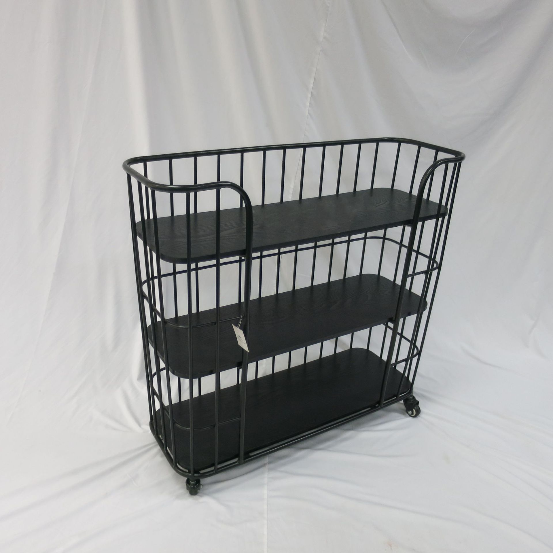 Wholesale Storage Shoe Rack Shelf Movable 3-layer Practical Rolling Cart Metal Storage Rack
