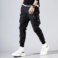 2020 Autumn Cargo Pants Multiple Pockets Trousers Men Hip Ho