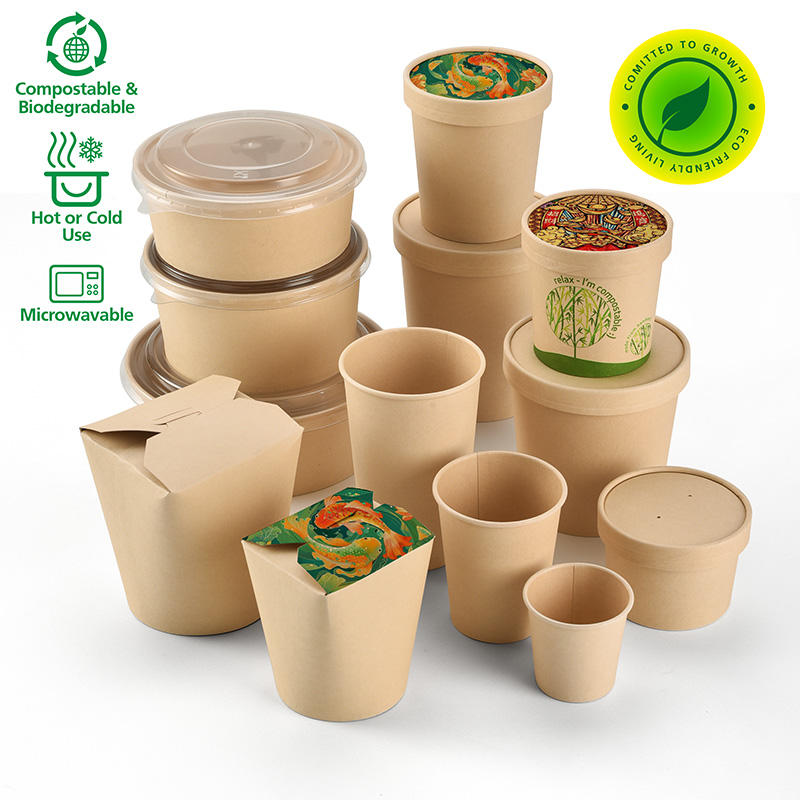 Biodegradável Eco friendly polpa de bambu embalagens de alimentos takeaway