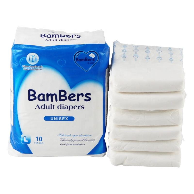 Promotion Wholesale Disposable adult diapers for elders and patients diaper adult in bulk for adults hospital Bambers brand