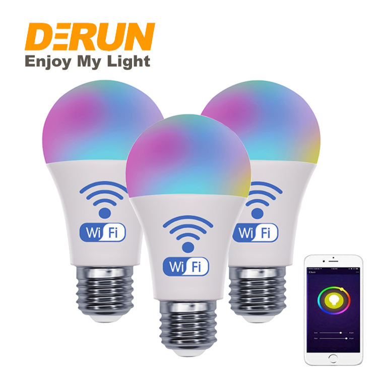 Smart Light WiFi Dimmable Soft White LED Bulb Work with Alexa Google Home Easy Setup Schedule A19 E27 80W Equivalent , LED-Smart