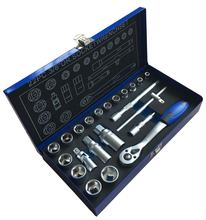 "22PCS High Quality 3/8"" Dr. Socket Set in Metal Case Tool Set Box"