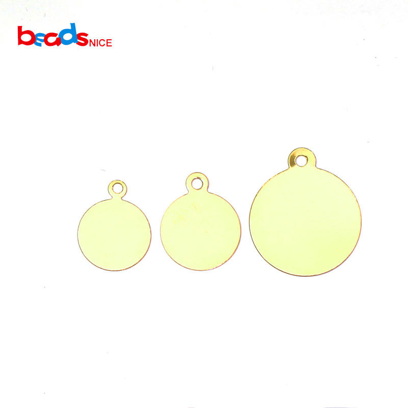 Beadsnice Gold-Filled Stamping Pendant Blanks for Jewelry Bracelet Making Wholesale Supply ID40177