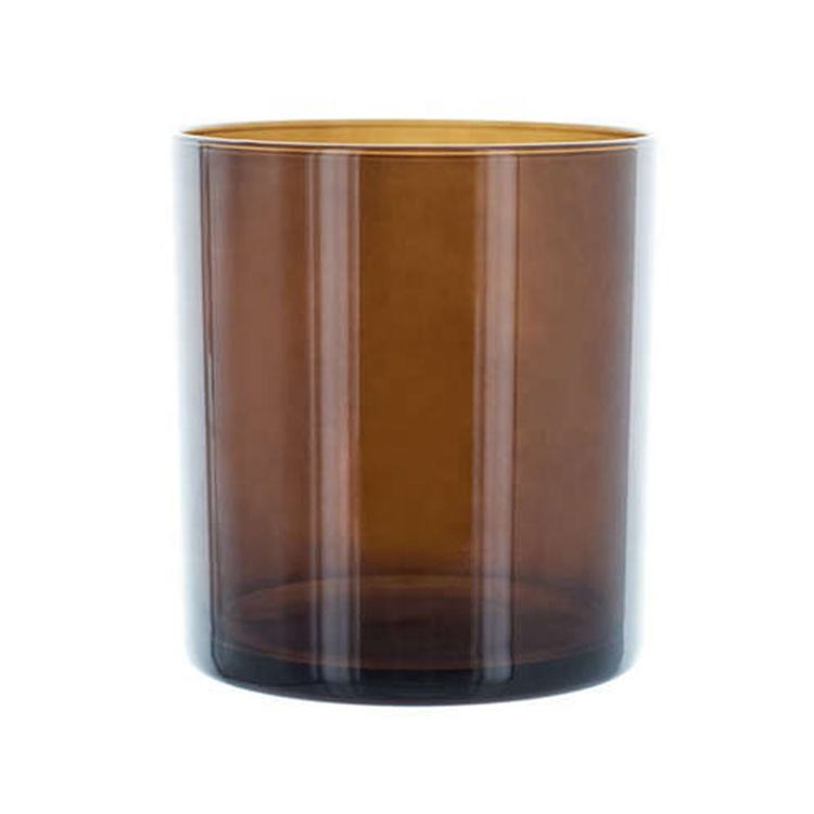 high quality geo candle jar in bulk 10oz 11oz 12oz amber glass candle cup and packaging for Christmas