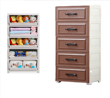 5 Tier multi-functional save space living room plastic stackable baby clothes wardrobe storage drawers