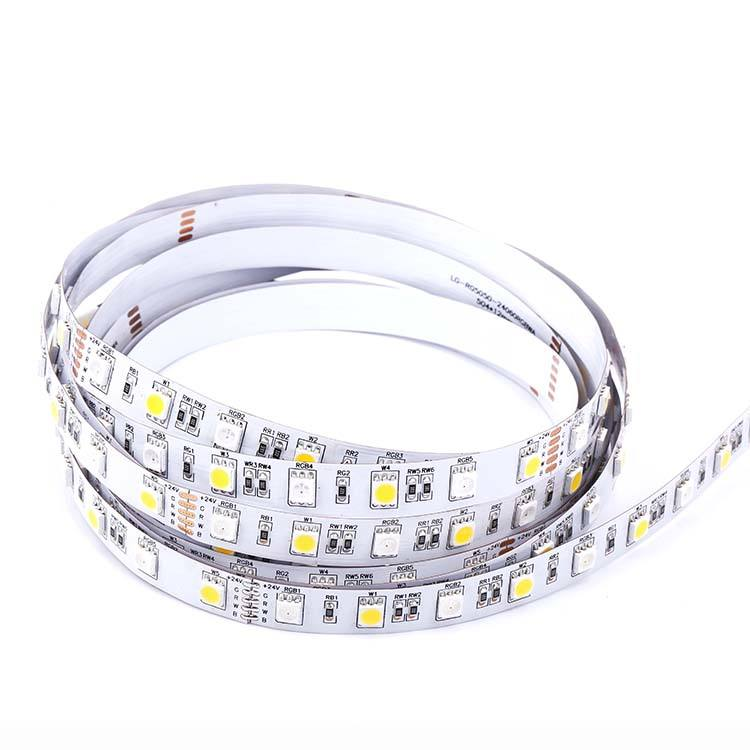 Linear LED strip on flexible PCB with original 3M self-adhesive tape on the back