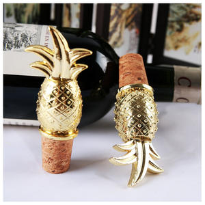 DTK Summer Series Pineapple-Shaped Wine Metal Cork Bottle Stopper