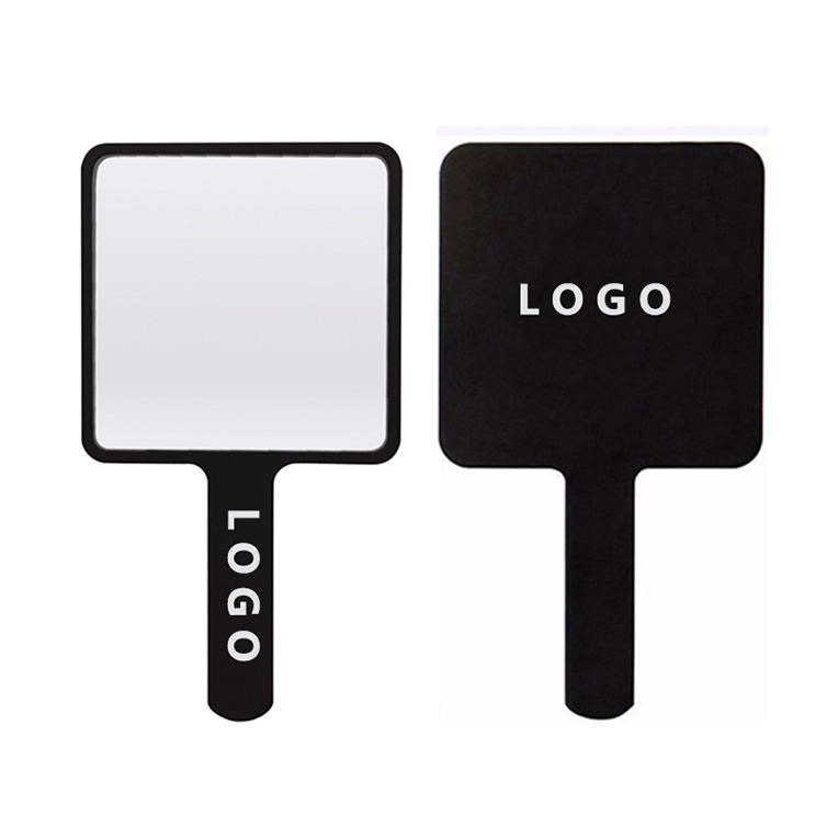 Square Plastic Cosmetic Mirror Personalized Handheld Makeup Mirror