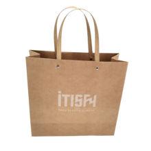 Offset Printing Fashion Kraft Paper Shopping Bag With Custom Logo