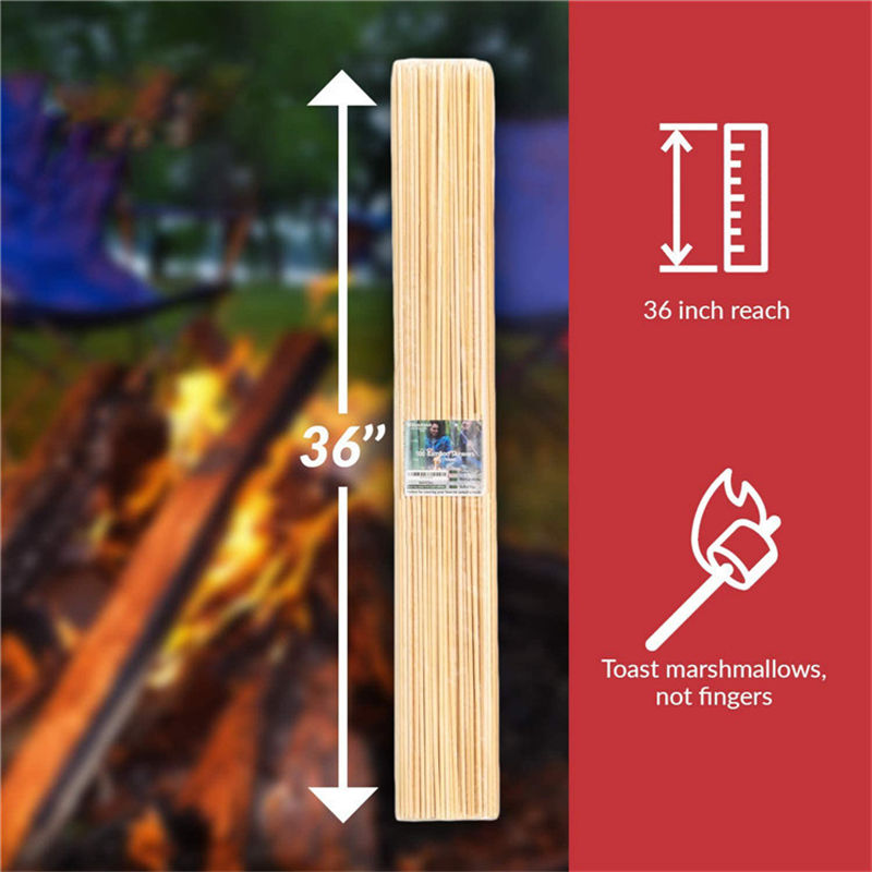 Bambus Kids Bbq Bamboo Hot Dog Round Bamboo Sale Handle Bbq Skewers Roasting Skewer For Sale For Marshmallow