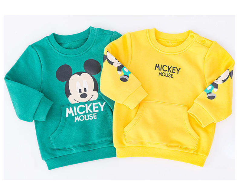 Fashion Disneys kids sweaters girls pullover double layer boys sweaters and pullovers
