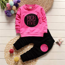 New Style Cute Outfits for Girls Spring Autumn Toddler Clothing Sets Long Sleeve T shirt + Trouser Two Piece Children's Clothing