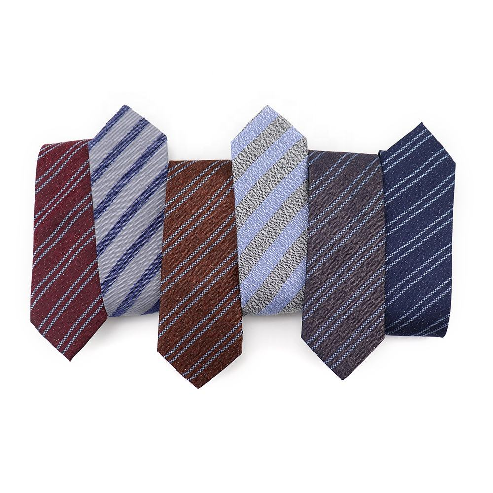 Perfect Nostalgic Retro Style High Quality Jacquard Business Neck Tie Fashion Multicolor Cravatta Silk Mens Silk Tie Striped