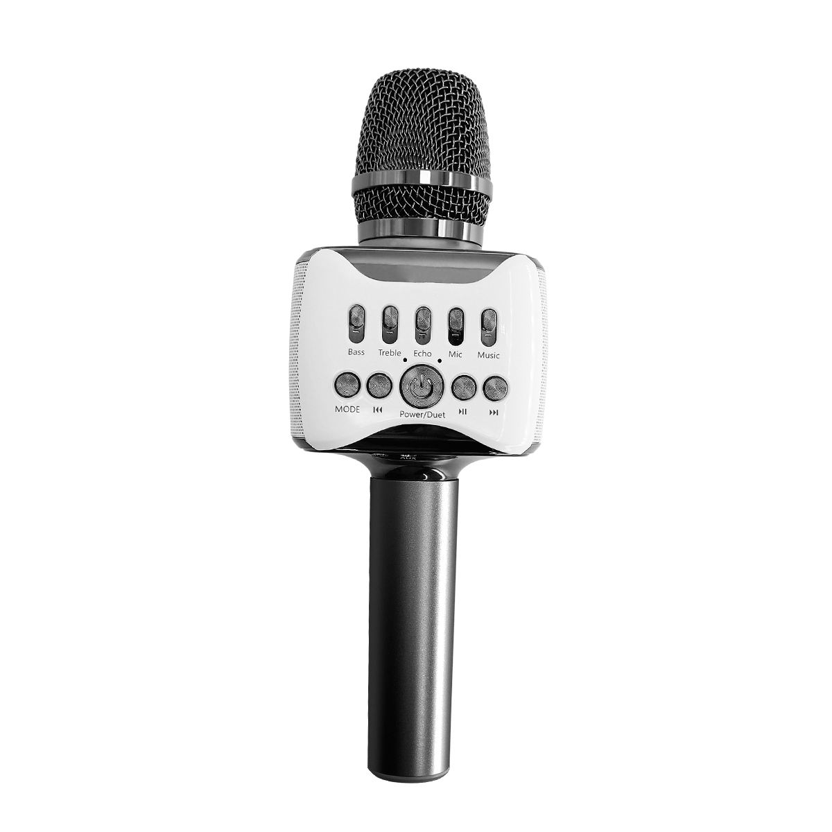 New designed wireless handheld karaoke microphone speaker for home party with duet function