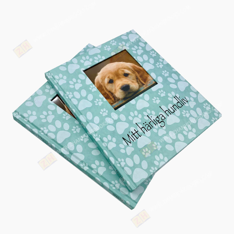 Custom pet memory book pet's Book Printing with foam cover