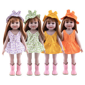 Wholesale Straight A-line Vest Skirt Two-piece American Girl Doll 18 Inch Doll Clothes