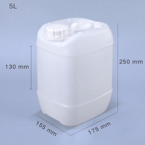 Wholesale 5L Motor Oil Lubricant Chemical Liquid HDPE Empty Airtight Plastic Pail Gallon Drum Jerry Can