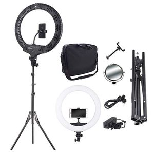 18inch camera photo video 5500k dimmable photography 480 led ring light kit with light stand 2 color filter for DSLR